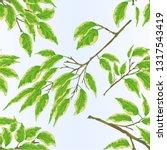seamless texture tropical plant ... | Shutterstock .eps vector #1317543419