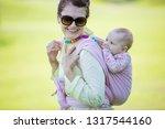 cheerful caucasian woman... | Shutterstock . vector #1317544160