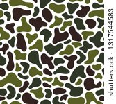 camouflage fluid simple pattern.... | Shutterstock .eps vector #1317544583