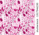 floral seamless pattern on... | Shutterstock .eps vector #1317546230