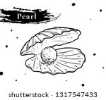 shell with pearl. clam  oyster...   Shutterstock .eps vector #1317547433
