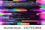 abstract futuristic image of... | Shutterstock . vector #1317552806