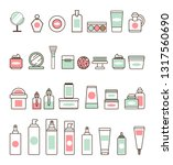 decorative and skincare... | Shutterstock . vector #1317560690