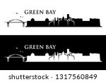 green bay skyline   wisconsin ... | Shutterstock .eps vector #1317560849