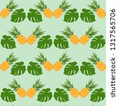 vector seamless pattern with... | Shutterstock .eps vector #1317565706