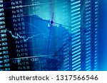 exchange data. finance concept. | Shutterstock . vector #1317566546