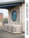 a beautiful rustic wooden beach ... | Shutterstock . vector #1317567389