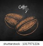 vector chalk drawn sketch of... | Shutterstock .eps vector #1317571226