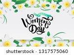 spring paper cut floral frame...   Shutterstock .eps vector #1317575060