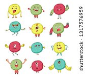 cute monsters. cartoon aliens... | Shutterstock .eps vector #1317576959