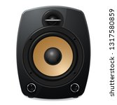black sound speaker on white... | Shutterstock .eps vector #1317580859