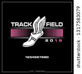 track and field  track  winged... | Shutterstock .eps vector #1317583079
