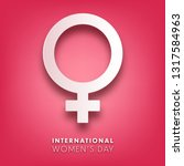 women's day background with... | Shutterstock .eps vector #1317584963