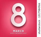 women's day background with... | Shutterstock .eps vector #1317584966
