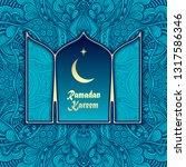 template banner flyer post card ... | Shutterstock .eps vector #1317586346