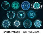set circle elements in a... | Shutterstock .eps vector #1317589826