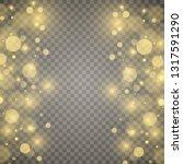 white sparks and golden stars ... | Shutterstock .eps vector #1317591290