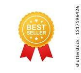 best seller badge. best seller... | Shutterstock .eps vector #1317596426