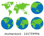 world map of vector | Shutterstock .eps vector #131759996