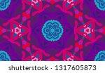 whimsical ethnic seamless...   Shutterstock .eps vector #1317605873