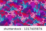 whimsical ethnic seamless...   Shutterstock .eps vector #1317605876