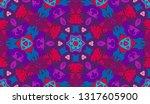 whimsical ethnic seamless...   Shutterstock .eps vector #1317605900
