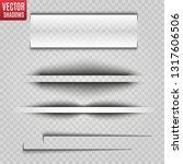 vector shadows isolated.... | Shutterstock .eps vector #1317606506