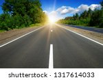asphalt car road and clouds on... | Shutterstock . vector #1317614033