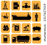 oil icon set | Shutterstock . vector #1317627419
