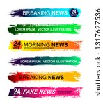 set of lower third brushs pack. ... | Shutterstock .eps vector #1317627536