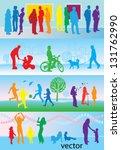 leisure activities  ... | Shutterstock .eps vector #131762990