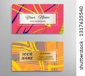 set of vector business card... | Shutterstock .eps vector #1317635540