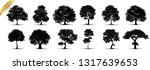 tree silhouettes on white... | Shutterstock .eps vector #1317639653