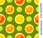 dark citrus colorful pattern.... | Shutterstock .eps vector #1317642599