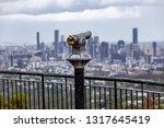 coin   operated binoculars... | Shutterstock . vector #1317645419