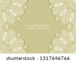 invitation or card template... | Shutterstock .eps vector #1317646766