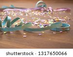 confetti and serpentine on the... | Shutterstock . vector #1317650066