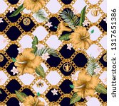 seamless summer pattern with... | Shutterstock .eps vector #1317651386