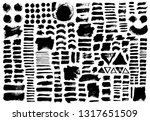 brush strokes bundle. vector... | Shutterstock .eps vector #1317651509