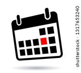 calendar  simple icon  red date