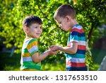 people kids sibling brother boy ... | Shutterstock . vector #1317653510