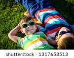happy cheerful smiling children ... | Shutterstock . vector #1317653513