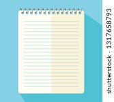 notepad  blue background    Shutterstock .eps vector #1317658793