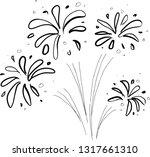 firework hand drawn | Shutterstock .eps vector #1317661310