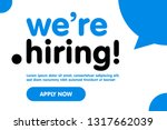 we are hiring vector background.... | Shutterstock .eps vector #1317662039
