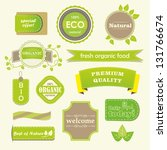 set of organic labels and... | Shutterstock .eps vector #131766674