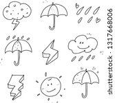 weather icon hand drawn | Shutterstock .eps vector #1317668006