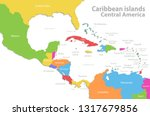 caribbean islands central... | Shutterstock .eps vector #1317679856