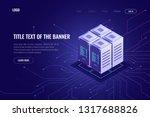 server room rack  cloud storage ... | Shutterstock .eps vector #1317688826