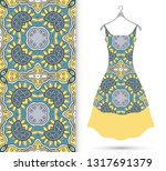 vector fashion illustration.... | Shutterstock .eps vector #1317691379